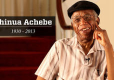 "Chinua Achebe- ""A great tree has fallen."""